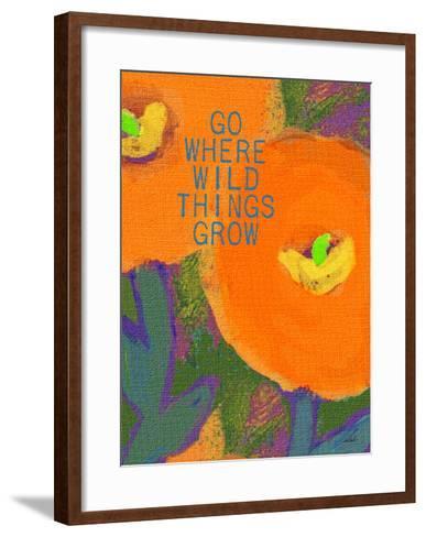 Go Where Wild Things Grow-Lisa Weedn-Framed Art Print