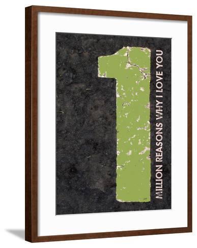 Million Reasons Why (Green)-Lisa Weedn-Framed Art Print