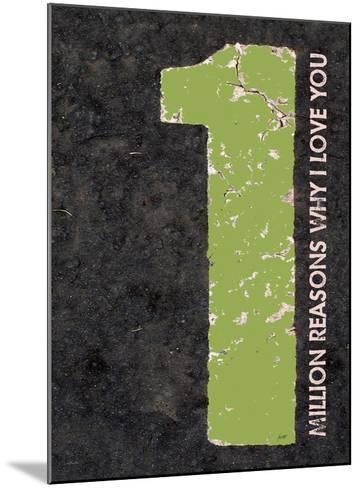 Million Reasons Why (Green)-Lisa Weedn-Mounted Giclee Print