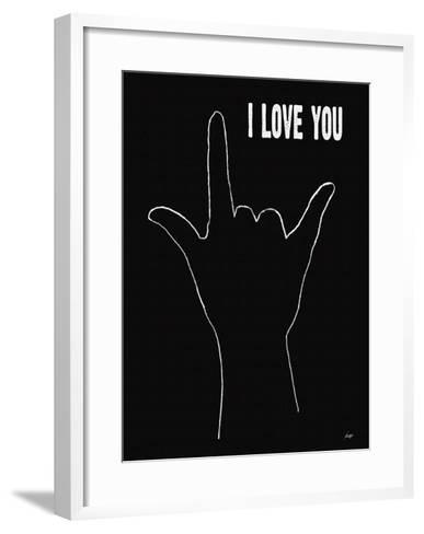 I Love You (Hand Sign-Lisa Weedn-Framed Art Print