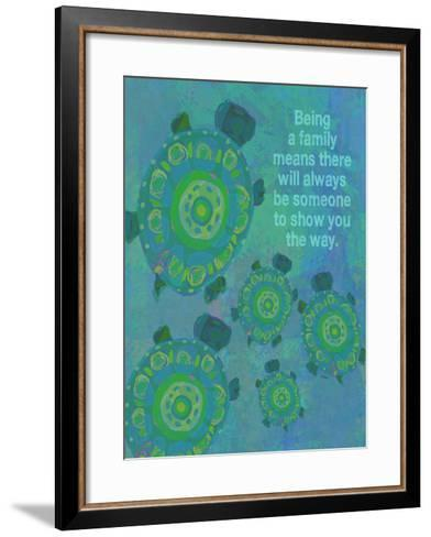 Being A Family - Turtle-Lisa Weedn-Framed Art Print
