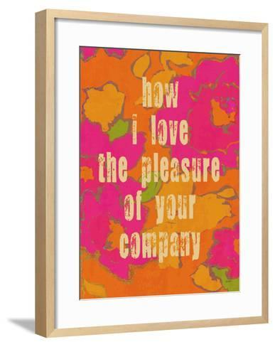 Pleasure Of Your Company-Lisa Weedn-Framed Art Print
