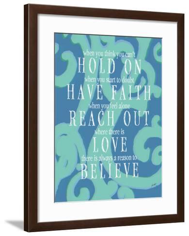 Hold On-Lisa Weedn-Framed Art Print