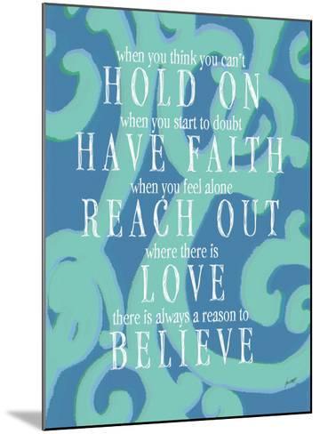 Hold On-Lisa Weedn-Mounted Giclee Print