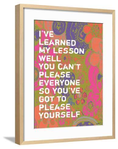 I've Learned-Lisa Weedn-Framed Art Print