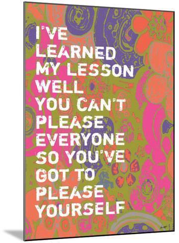 I've Learned-Lisa Weedn-Mounted Giclee Print