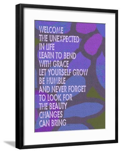 Welcome The Unexpected In Life-Lisa Weedn-Framed Art Print
