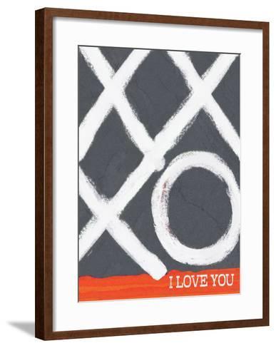 I Love You (Xo)-Lisa Weedn-Framed Art Print