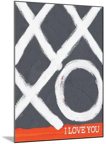 I Love You (Xo)-Lisa Weedn-Mounted Giclee Print
