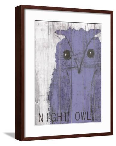 Night Owl Purple-Lisa Weedn-Framed Art Print