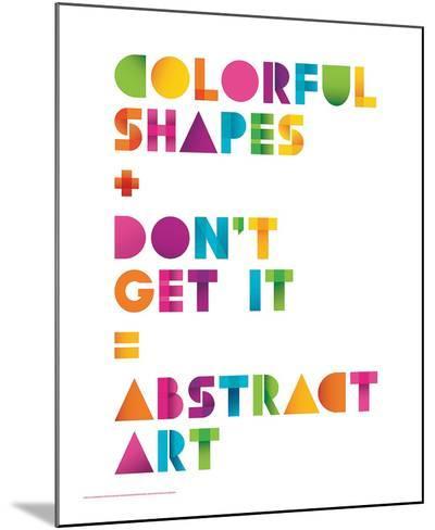 Abstract Art-JJ Brando-Mounted Art Print