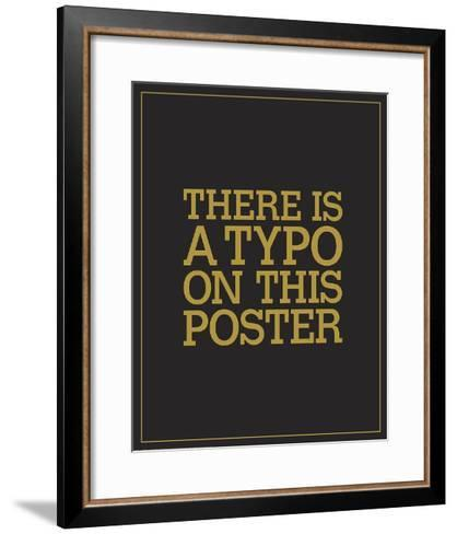 Typo-JJ Brando-Framed Art Print