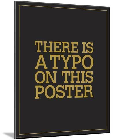 Typo-JJ Brando-Mounted Art Print