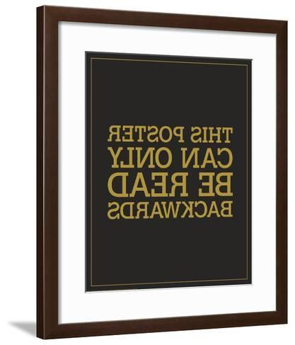 Backwards-JJ Brando-Framed Art Print