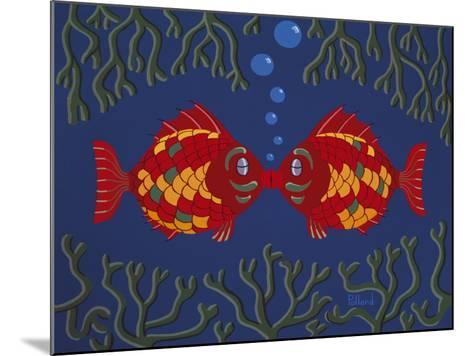 Fishes' Kisses-Brian Pollard-Mounted Giclee Print