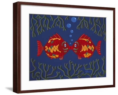 Fishes' Kisses-Brian Pollard-Framed Art Print