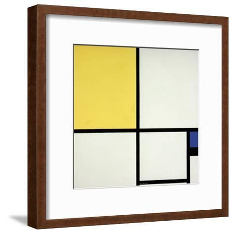 Composition with Blue and Yellow-Piet Mondrian-Framed Art Print