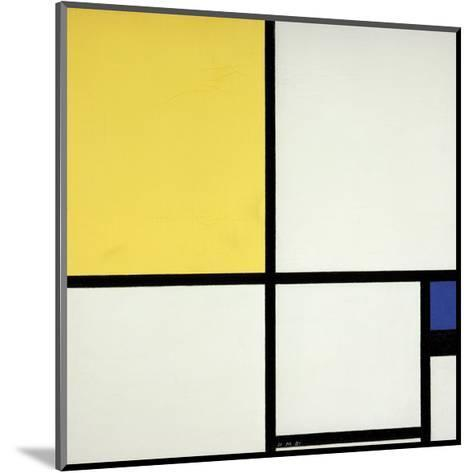 Composition with Blue and Yellow-Piet Mondrian-Mounted Giclee Print