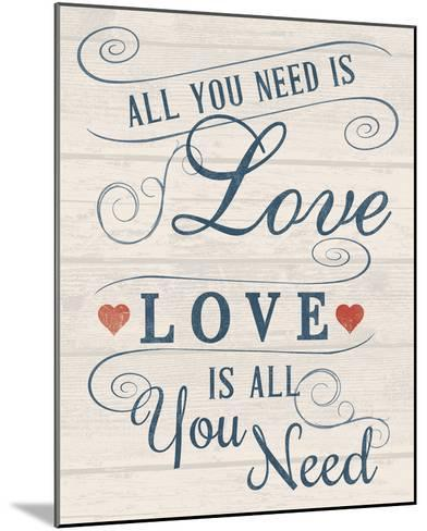 All You Need is Love-Tom Frazier-Mounted Art Print