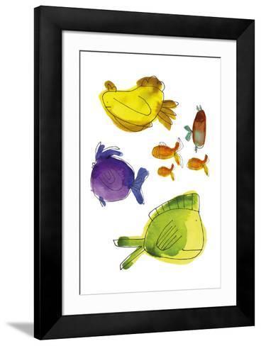 Rainbow Fish II-Callie Crosby and Rebecca Daw-Framed Art Print