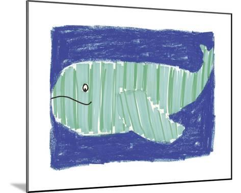 Striped Whale-Katrien Soeffers-Mounted Giclee Print