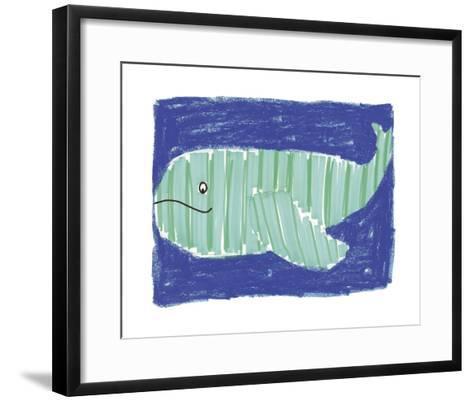 Striped Whale-Katrien Soeffers-Framed Art Print
