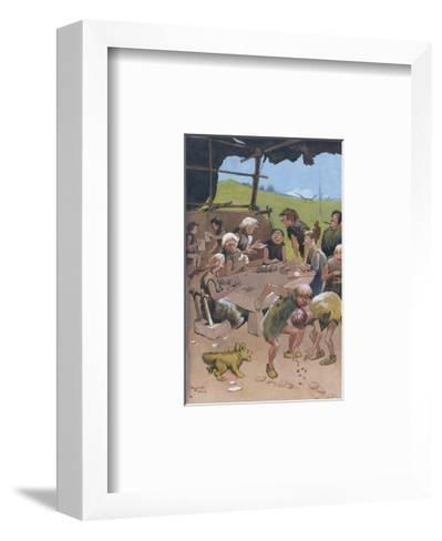 The Card Players-Lawson Wood-Framed Art Print