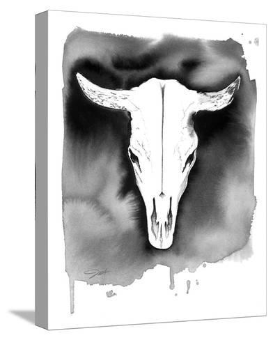 Cow Skull-Jessica Durrant-Stretched Canvas Print