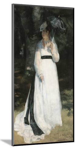 Femme à l'ombrelle-Pierre-Auguste Renoir-Mounted Art Print