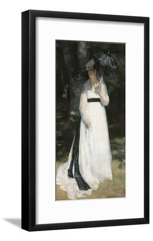 Femme à l'ombrelle-Pierre-Auguste Renoir-Framed Art Print