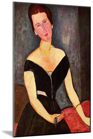 Madame Georges van Muyden-Amedeo Modigliani-Mounted Art Print