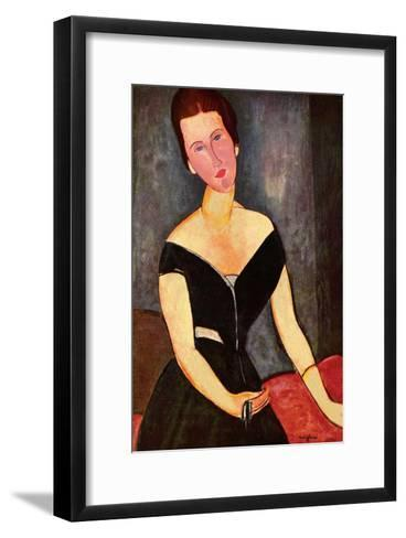 Madame Georges van Muyden-Amedeo Modigliani-Framed Art Print