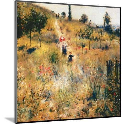 Chemin montant dans les hautes herbes-Pierre-Auguste Renoir-Mounted Art Print
