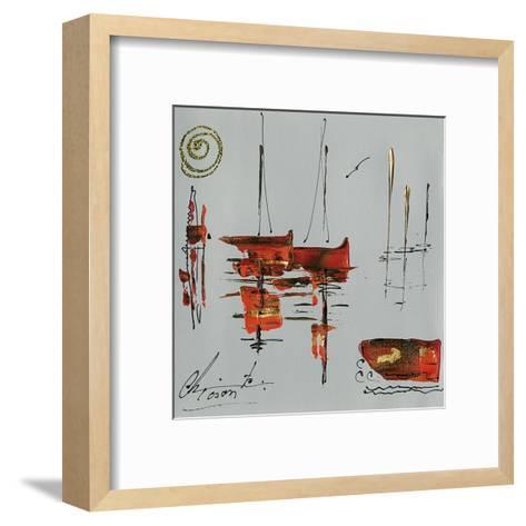 Le port-Christine Tison-Framed Art Print