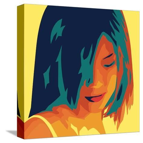 The Girl from Okinawa (yellow)-Javier Palacios-Stretched Canvas Print