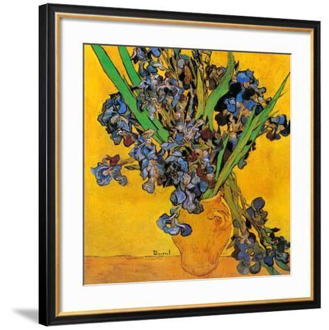 Vase avec iris (Détail)-Vincent van Gogh-Framed Art Print