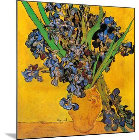 Vase avec iris (Détail)-Vincent van Gogh-Mounted Art Print