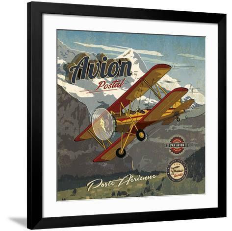 Avion postal-Bruno Pozzo-Framed Art Print