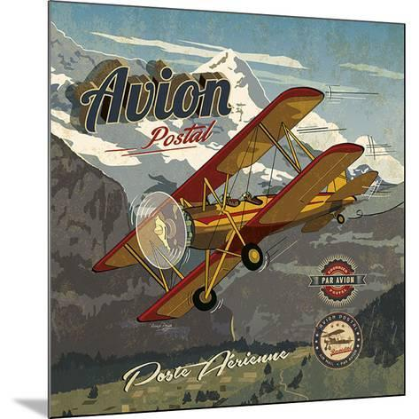 Avion postal-Bruno Pozzo-Mounted Art Print
