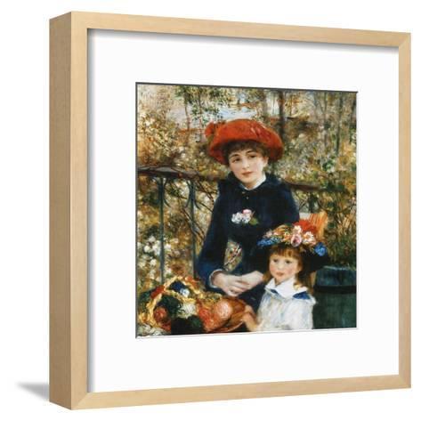 À la terrace-Pierre-Auguste Renoir-Framed Art Print