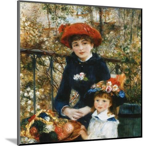 À la terrace-Pierre-Auguste Renoir-Mounted Art Print