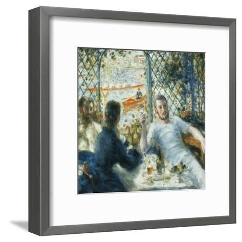 Le déjeuner au bord de la rivière-Pierre-Auguste Renoir-Framed Art Print