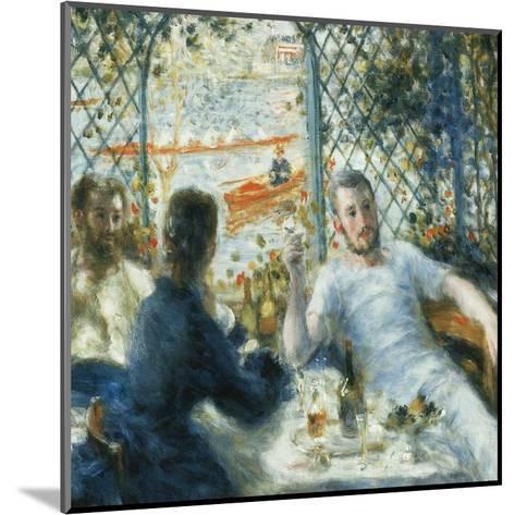 Le déjeuner au bord de la rivière-Pierre-Auguste Renoir-Mounted Art Print