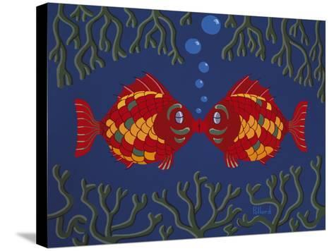 Fishes' Kisses-Brian Pollard-Stretched Canvas Print