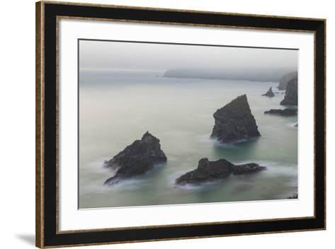 Bedruthan Steps-Peter Adams-Framed Art Print