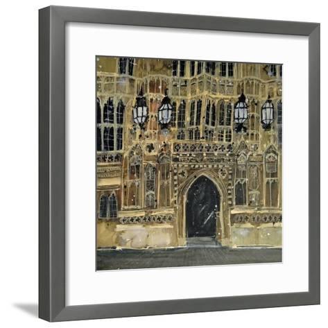 Entrance, Parliament, London-Susan Brown-Framed Art Print