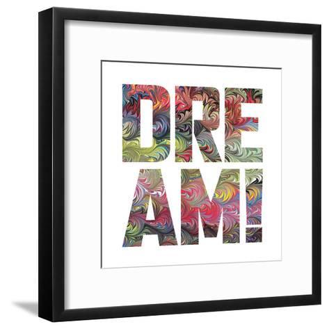 Marbled Words-Melody Hogan-Framed Art Print