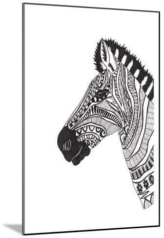 Lone Zebra-Pam Varacek-Mounted Art Print