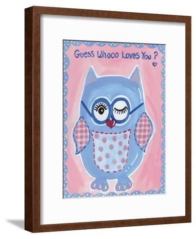 Guess Whooo-Tammy Hassett-Framed Art Print
