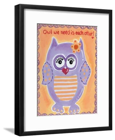 Owl We Need-Tammy Hassett-Framed Art Print